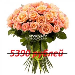 Букет из 49 персиковых роз