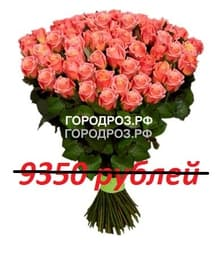 Букет из 85 персиковых роз